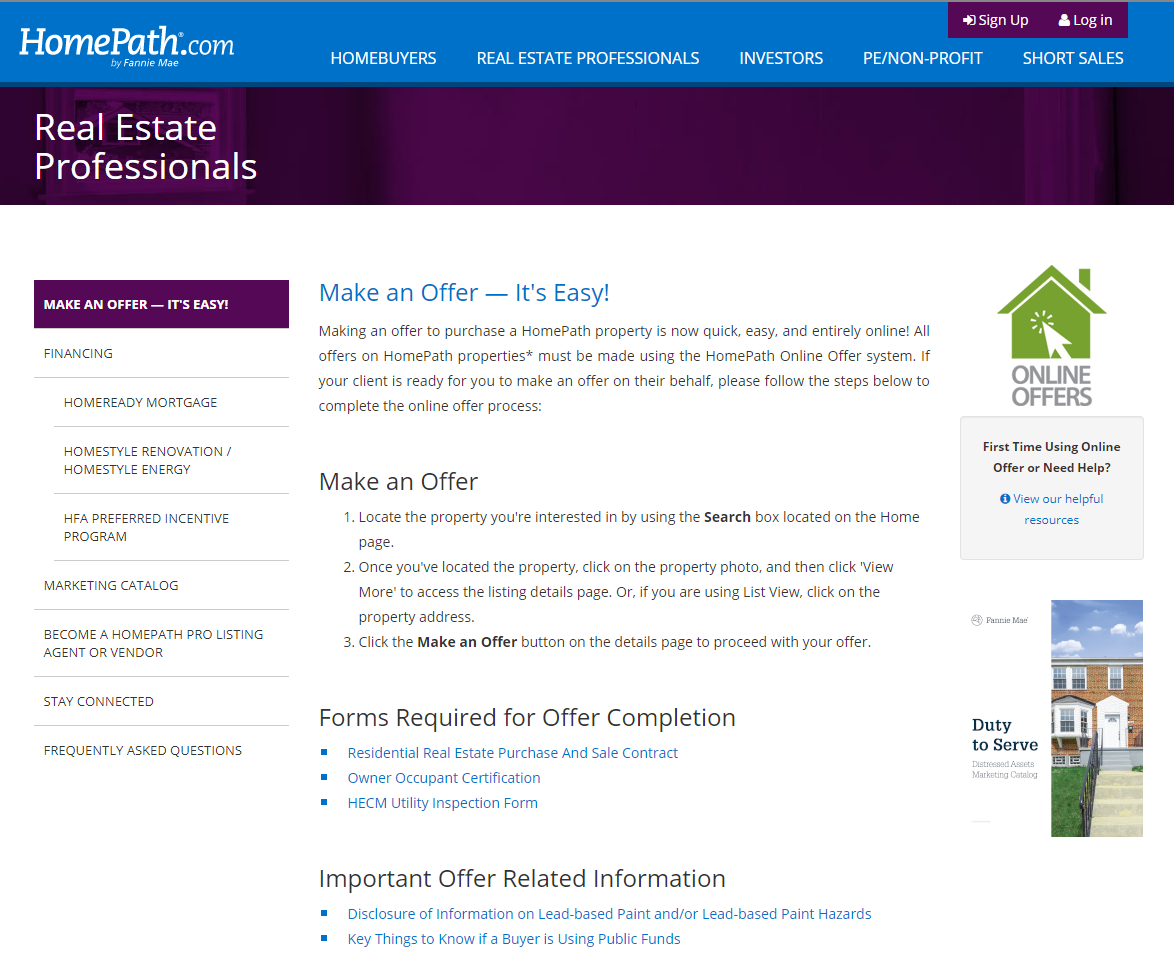 Homepath For Professionals